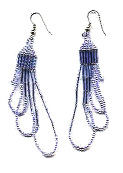 blue loop earrings