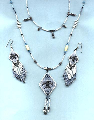 Eagle double necklace set  *Hematite*