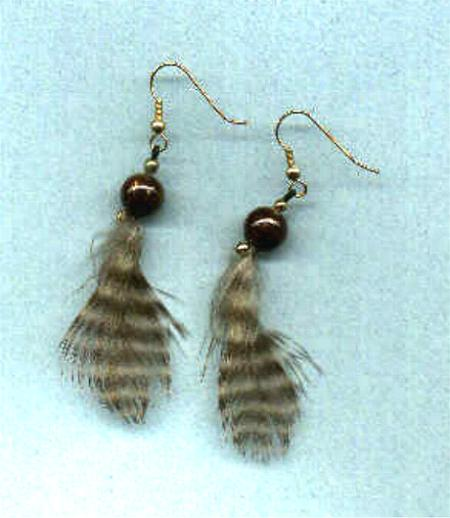 *NEW* Feather earrings #4!