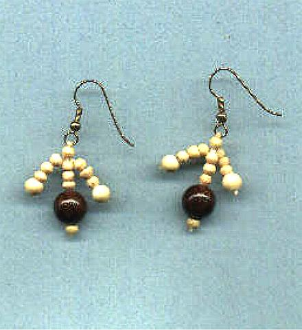 *NEW* Wood Bead earrings!